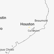 Regional Hail Map for Houston, TX - Monday, July 9, 2018