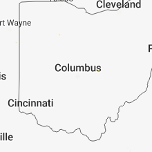 Regional Hail Map for Columbus, OH - Tuesday, July 10, 2018