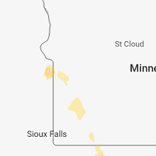 Regional Hail Map for Montevideo, MN - Tuesday, July 10, 2018