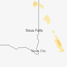 Regional Hail Map for Sioux Falls, SD - Tuesday, July 10, 2018