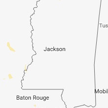 Regional Hail Map for Jackson, MS - Wednesday, July 11, 2018