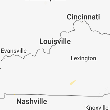 Regional Hail Map for Louisville, KY - Wednesday, July 11, 2018
