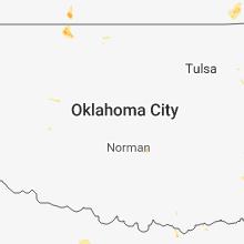 Regional Hail Map for Oklahoma City, OK - Thursday, July 12, 2018