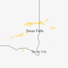 Regional Hail Map for Sioux Falls, SD - Thursday, July 12, 2018