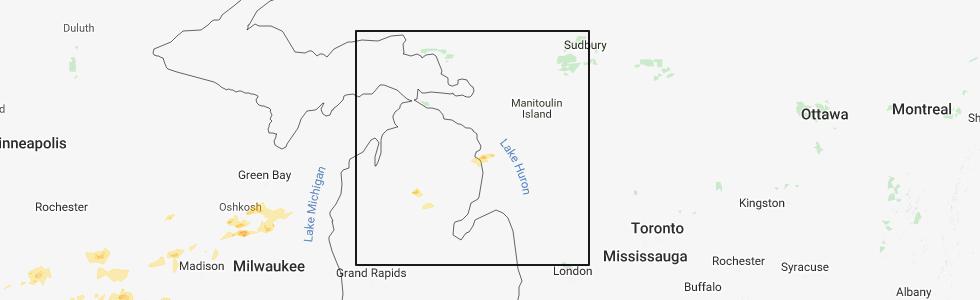 Interactive Hail Maps Hail Map For St Helen Mi