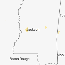 Regional Hail Map for Jackson, MS - Friday, July 13, 2018