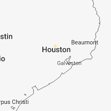 Regional Hail Map for Houston, TX - Saturday, July 14, 2018