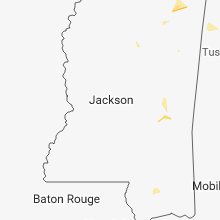 Regional Hail Map for Jackson, MS - Sunday, July 15, 2018