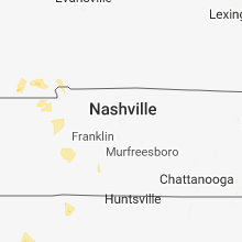 Regional Hail Map for Nashville, TN - Sunday, July 15, 2018