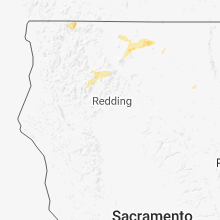 Regional Hail Map for Redding, CA - Sunday, July 15, 2018