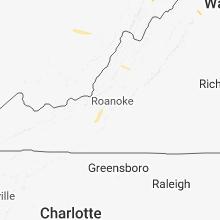 Regional Hail Map for Roanoke, VA - Sunday, July 15, 2018