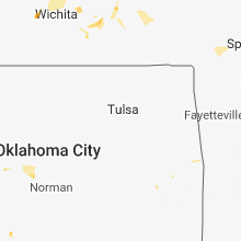 Regional Hail Map for Tulsa, OK - Sunday, July 15, 2018