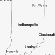 Regional Hail Map for Indianapolis, IN - Monday, July 16, 2018