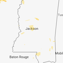Regional Hail Map for Jackson, MS - Monday, July 16, 2018