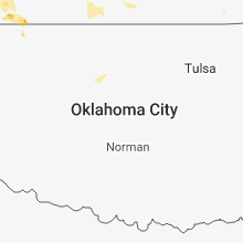 Regional Hail Map for Oklahoma City, OK - Monday, July 16, 2018