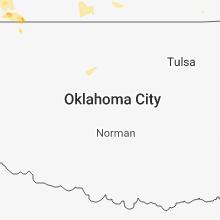 Regional Hail Map for Oklahoma City, OK - Monday, July 16, 2018
