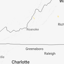 Regional Hail Map for Roanoke, VA - Monday, July 16, 2018