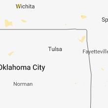 Regional Hail Map for Tulsa, OK - Monday, July 16, 2018