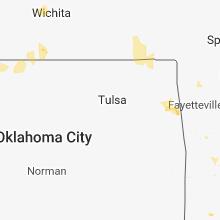 Regional Hail Map for Tulsa, OK - Tuesday, July 17, 2018
