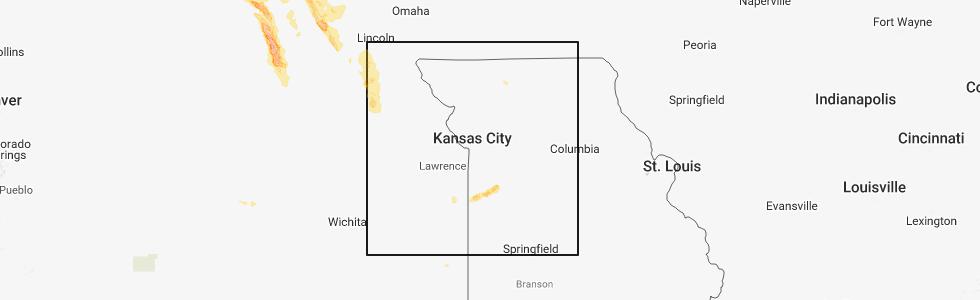 Hail Map for Kansas City, MO - Wednesday, July 18, 2018