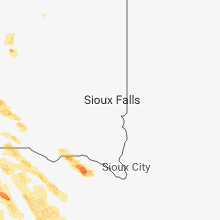 Regional Hail Map for Sioux Falls, SD - Wednesday, July 18, 2018