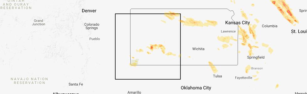 Junction City Kansas Map.Interactive Hail Maps Hail Map For Garden City Ks