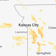 Regional Hail Map for Kansas City, MO - Thursday, July 19, 2018