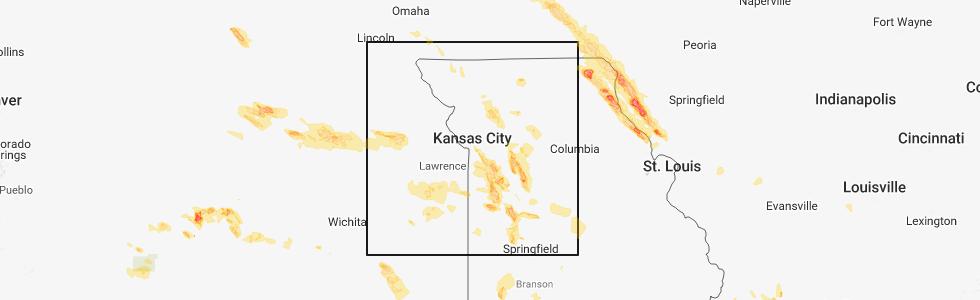 Map Of Manhattan Kansas.Interactive Hail Maps Hail Map For Manhattan Ks