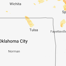 Regional Hail Map for Tulsa, OK - Thursday, July 19, 2018
