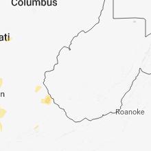 Regional Hail Map for Charleston, WV - Friday, July 20, 2018