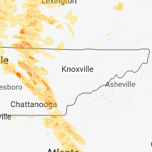 Hail Map for knoxville-tn 2018-07-20