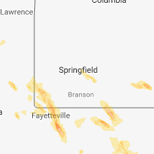 Regional Hail Map for Springfield, MO - Friday, July 20, 2018