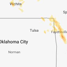 Regional Hail Map for Tulsa, OK - Friday, July 20, 2018