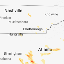 Regional Hail Map for Chattanooga, TN - Saturday, July 21, 2018
