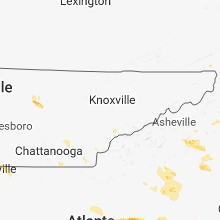 Regional Hail Map for Knoxville, TN - Saturday, July 21, 2018