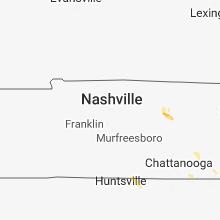 Regional Hail Map for Nashville, TN - Saturday, July 21, 2018