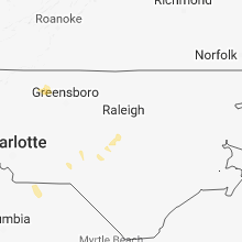 Hail Map for raleigh-nc 2018-07-21