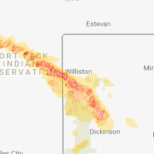 Hail Map for williston-nd 2018-07-21