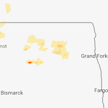 Regional Hail Map for Devils Lake, ND - Sunday, July 22, 2018