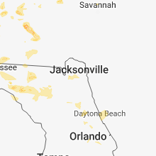 Regional Hail Map for Jacksonville, FL - Sunday, July 22, 2018