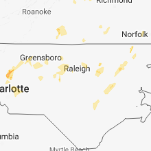 Hail Map for raleigh-nc 2018-07-22