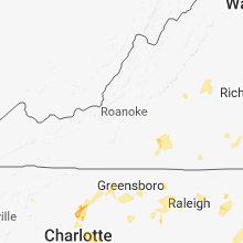 Regional Hail Map for Roanoke, VA - Sunday, July 22, 2018