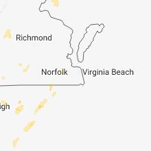 Hail Map for virginia-beach-va 2018-07-22