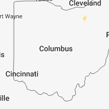 Regional Hail Map for Columbus, OH - Monday, July 23, 2018
