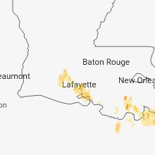 Hail Map for lafayette-la 2018-07-23
