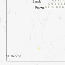 Regional Hail Map for Monroe, UT - Tuesday, July 24, 2018