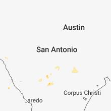 Regional Hail Map for San Antonio, TX - Tuesday, July 24, 2018