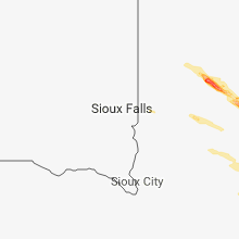 Regional Hail Map for Sioux Falls, SD - Wednesday, July 25, 2018