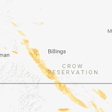 Regional Hail Map for Billings, MT - Thursday, July 26, 2018