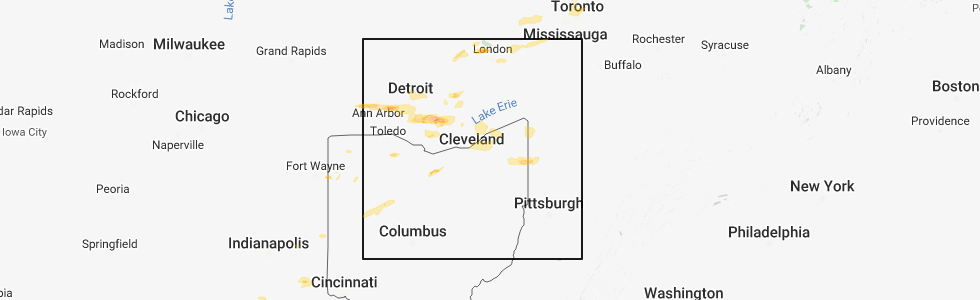 Interactive Hail Maps - Hail Map for Cleveland, OH on